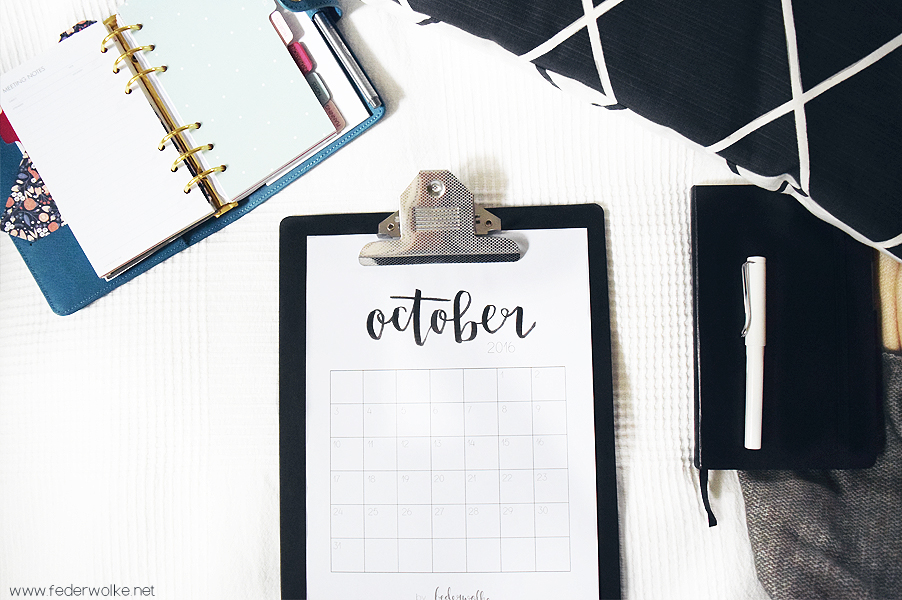 Free Download Monthly Planner October